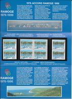 1996 - POCHETTE EMISSION COMMUNE FRANCE / MONACO / ITALIE  - RAMOGE - Emissioni Congiunte