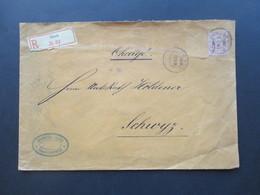 Schweiz 1896 Charge Brief / Einschreiben R Ibach No 34 Nach Schwayz. Spinnerei Jbach - Covers & Documents