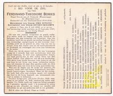 DP Depot Overste NMBS - Ferdinand T. Bories ° Ieper 1886 † 1945 X Depuydt Xx E. Descamps / Devos Laurie Boussue Margot - Images Religieuses