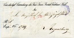 (Lo3246) Altdeutschland Brief Bayern St. Regensburg Irren Anstalt - Deutschland