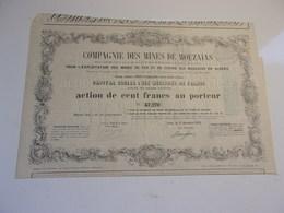 COMPAGNIE DES MINES DE MOUZAIAS (algérie) 1853 - Actions & Titres