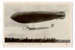 """8 - Locomotion Aérienne - """" Le Ville De Nancy""""  Envol à La Verticale, Publicité """"Astra""""1909, Pas Circulé - Dirigeables"""