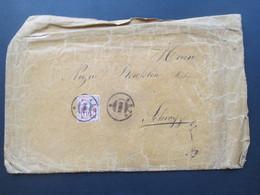 Schweiz 1894 Beleg 2x Stempel Arth Nach Schwyz Hinten Mit Handschriftlichen Vermerken. Interessant?? - Covers & Documents