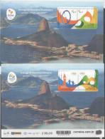 BRAZIL, 2016, MNH, RIO OLYMPICS, PARALYMPICS, 2 3D SHEETLETS - Summer 2016: Rio De Janeiro