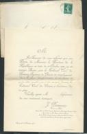 Chinon Le 2/11/1910 F.P. NOMINATION Avoué Près Le Tribunal Civil 1er Instance De Chinon De J. Desmaraix  Raa1905 - Announcements