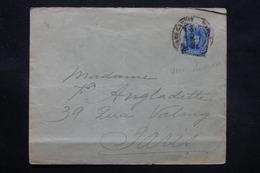 ESPAGNE - Enveloppe Pour Paris En 1904 , Affranchissement Plaisant + Au Verso 1/4 Couronne Royale Pour Fermer - L 27749 - 1889-1931 Royaume: Alphonse XIII
