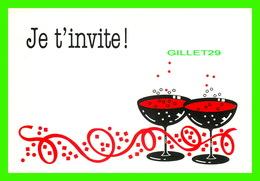 FÊTE - JOYEUX ANNIVERSAIRE - JE T'INVITE - DIMENSION 12 X 17 Cm - CREATIVE PAPER & BOX CRÉATE - - Anniversaire