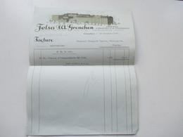 Schweiz 1926 Rechnung Fabrique D 'ebauches Et De Finissages Felsa Grenchen. Firma Im Briefkopf - Schweiz