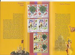 2003 - POCHETTE EMISSION COMMUNE FRANCE / INDE  - ART - Francia