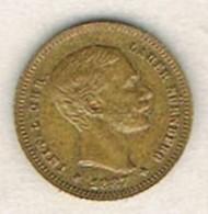Moneda TOKEN, Jeton ESPAÑA, Alfonso XII 10 Pts 1887, LAUER Nurnberg - España