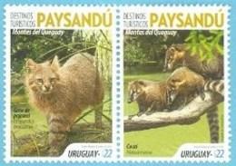 Uruguay 2019 ** Destinos Turisticos: Paysandú, área Protegida, Montes Del Queguay. Fauna Del Bosque Y Del Río. - Felini