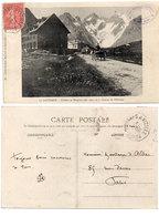 Le Lautaret - Chalets Et Hospice - Glacier De L' Homme - Cachet : Bourg D' Oisans A Vizille      (112649) - France