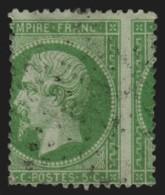 N°20, Variété Piquage à Cheval, Napoléon 5c Vert - B/TB - 1862 Napoleon III
