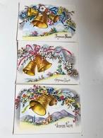 """Lot De 3 Cartes Postales Anciennes  """"Joyeuses Pâques"""" (cloches) - Pâques"""