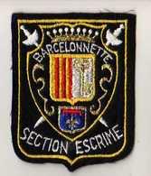 ECUSSON Tissu, Feutrine Brodee, BARCELONNETTE SECTION ESCRIME - Ecussons Tissu