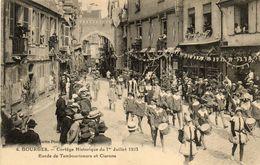 BOURGES - 18 - Cortége Historique De 1 Juillet 1923 Tambourineurs Clairons (4) - 71657 - Bourges