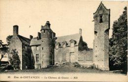 CPA - COUTANCES  (ENV.) - CHATEAU DE GRATOT (IMPECCABLE) - Coutances
