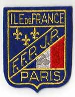 ECUSSON Tissu, Feutrine Brodée, PARIS ILE DE FRANCE FFPJP - Scudetti In Tela