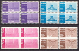 Brazil MNH Airmail Stamps In A Blocks Of 4 - Brazil