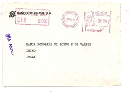 BANCO  DEL  BRASIL  S.A.  1981  X LUINO  VARESE--CEP  01000 - Affrancature Meccaniche/Frama