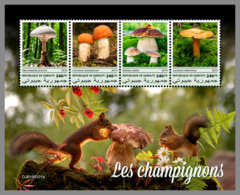 DJIBOUTI 2019 MNH Mushrooms Pilze Champignons M/S - OFFICIAL ISSUE - DH1913 - Mushrooms