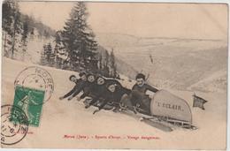 Jura :  MOREZ Sous La  Neige : Sport D ' Hiver ,  Bob , Ski  , L ' éclair ( Pour Lacapelle Marival , Lot ) - Morez