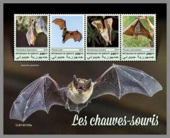 DJIBOUTI 2019 MNH Bats Fledermäuse Chauves-souris M/S - IMPERFORATED - DH1913 - Chauve-souris