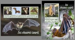 DJIBOUTI 2019 MNH Bats Fledermäuse Chauves-souris M/S+S/S - IMPERFORATED - DH1913 - Chauve-souris