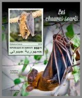 DJIBOUTI 2019 MNH Bats Fledermäuse Chauves-souris S/S - IMPERFORATED - DH1913 - Chauve-souris