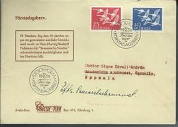 Sweden. Scott # 492-93 FDC. Norden. Joint Issue With Norway 1956 - Joint Issues
