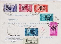 Trieste AMG-FTT Lettera Assicurata Con Serie PA 7-12 Compl. (04881) - Storia Postale