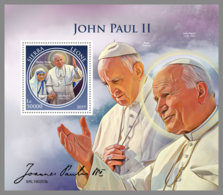 SIERRA LEONE 2019 MNH Mother Teresa John Paul II. S/S - IMPERFORATED - DH1913 - Mère Teresa