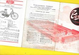 """Catalogue 1931 Cycles """"TERROT"""" 3 Volets Format Replié 12 X 18 Cm Env.. - Cycling"""