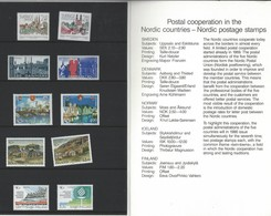 Denmark-Finland-Iceland-Norway-Sweden.  MNH With Folder. Norden. Joint Issue Of 1986 - Joint Issues