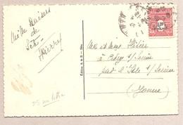 1.50 Arc De Triomphe - Belle Vue Du Port De Sète Au Verso - Marcophilie (Lettres)