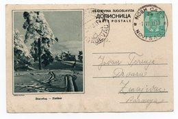 YUGOSLAVIA, SERBIA, ZLATIBOR, 1939 1 DINAR GREEN, USED, POSTAL STATIONERY - Serbia