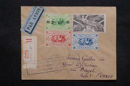 RÉUNION - Enveloppe En Recommandé De Hell -Bourg Pour La France En 1947 Par Avion, Affranchissement Plaisant - L 27758 - Réunion (1852-1975)