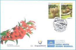 Uruguay 2019 SPD Destinos Turisticos: Paysandú, área Protegida, Montes Del Queguay. Fauna De Bosque Y De Río. - Felinos