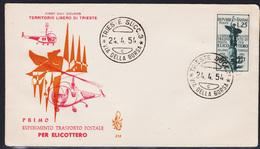 Trieste AMG-FTT 199 Posta Aerea Per Elicottero, FDC Non Viaggiata. (04883) - 7. Trieste