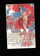 C.P.A. ILLUSTREE PAR NOMELLINI....INAUGURATION D UN MONUMENT EN 1915 A GENOVA... - Illustrateurs & Photographes