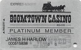 Boomtown Casino Biloxi MS - 7th Issue Platinum Member Slot Card    ....[RSC]..... - Casino Cards