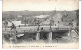 CPA  De  SAINT-QUENTIN  (02)  -  Le  Nouveau  Pont  Et  Plusieurs   Péniches     //    TBE - Saint Quentin