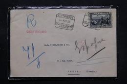 ESPAGNE - Enveloppe En Recommandé De Madrid Pour Paris En 1935 , Affranchissement Plaisant - L 27763 - 1931-50 Briefe U. Dokumente