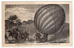 Descente De Charles Et Robert Dans La Prairie De Nesles, 1er Décembre 1783 - Dirigeables