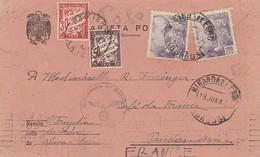 1943 TARJETA MIRANDA DE EBRO CENSURAS DE MADRID ELA 107 - 1931-Aujourd'hui: II. République - ....Juan Carlos I