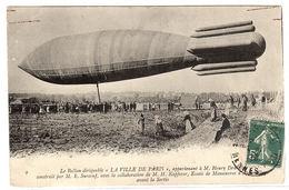 """Le Ballon Dirigeable """" LA VILLE DE PARIS """" - Essais De Manoeuvres D' Appareillage Avant La Sortie - Dirigeables"""