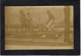 CPA Boxe Boxeur Carte Photo RPPC Match à Clermont Ferrand Place 1er Mai Actuelle - Boxe