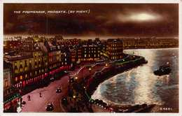 MARGATE, KENT - PROMENADE BY NIGHT - POSTED IN 1945 ~ AN OLD POSTCARD #92858 - Margate
