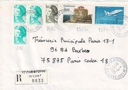 TP N° 2352, 2372 Et Diverses Marianne Sur Enveloppe En Recommandé De St Christophe Du Luat - Marcophilie (Lettres)