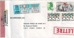 TP N° 2353 En 2 Ex , PA48 Et Diverses Marianne Sur Enveloppe En Recommandé De Paris 122 - Postmark Collection (Covers)